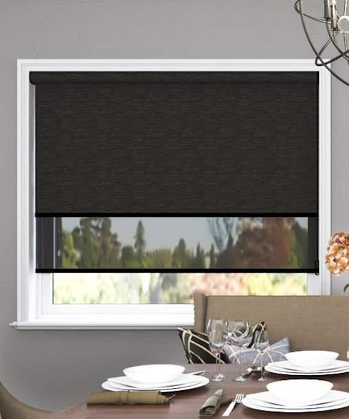Portsea Bo Charcoal Viewscreen Charcoal Meblinds